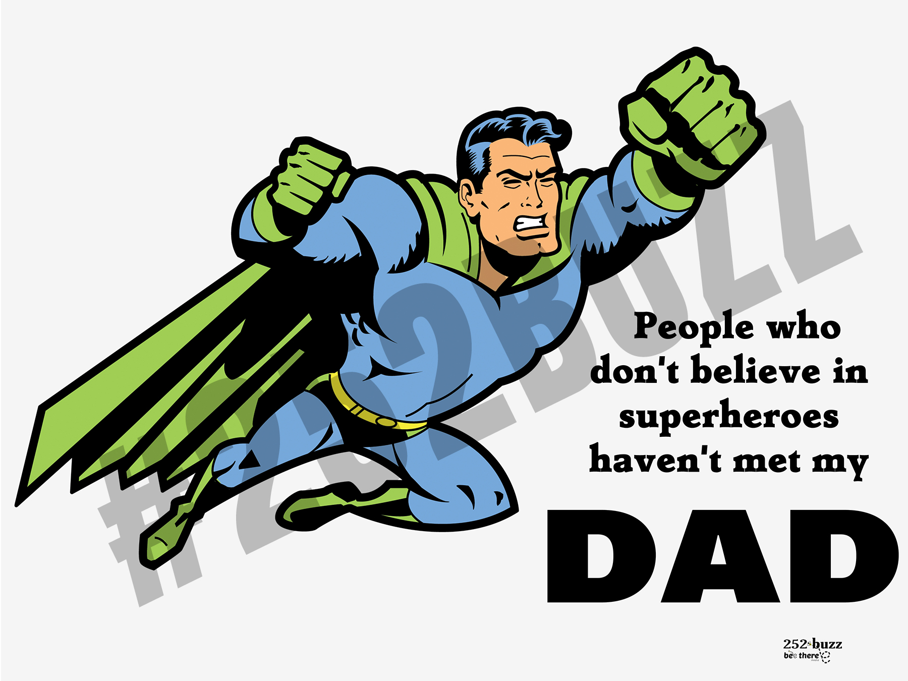 SUPERHERO DAD 2 18x24 lawn sign sample