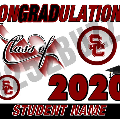 SOUTH CENTRAL Class of 2020 sample 24 x
