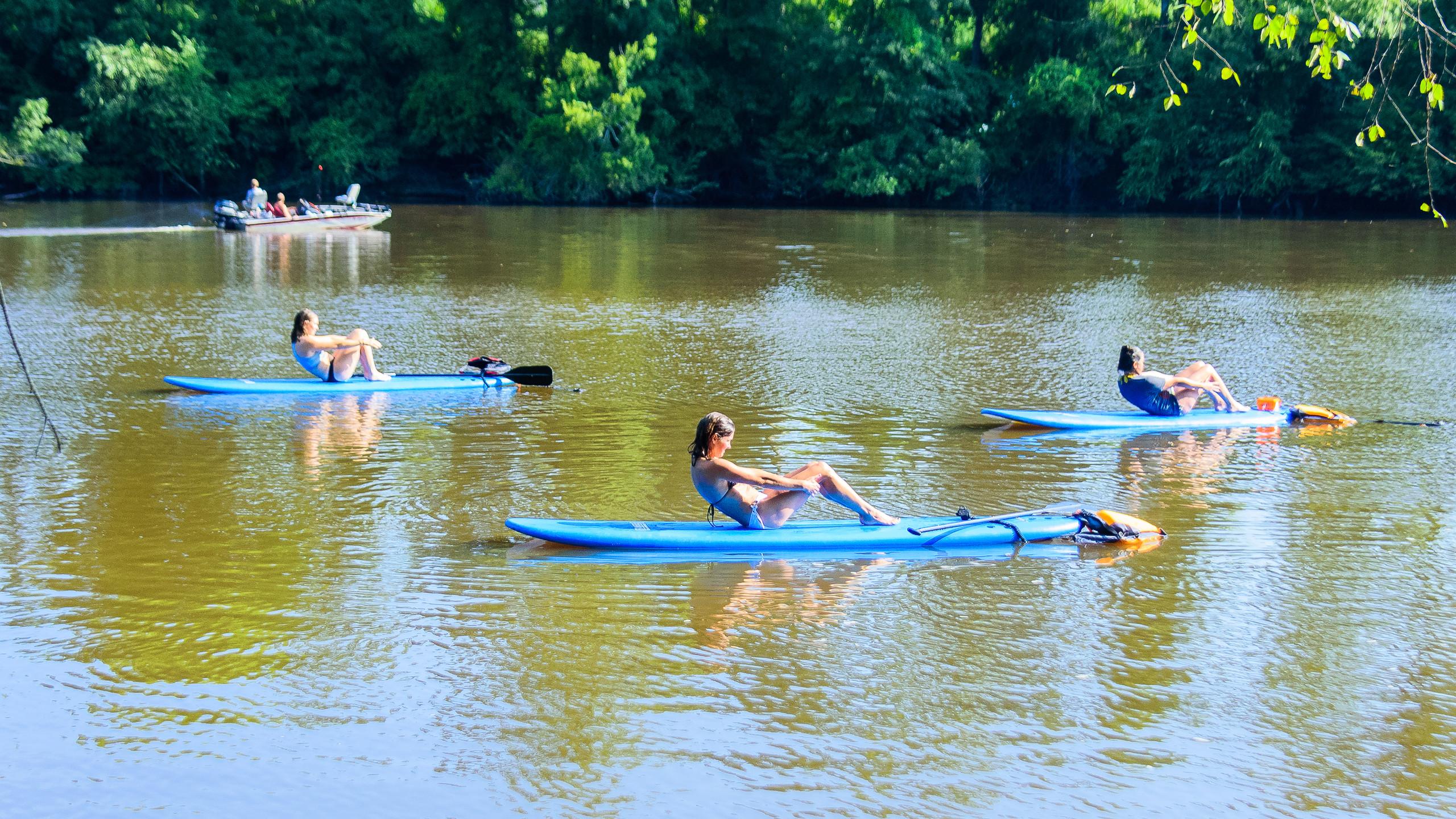 SUP Yoga on the Tar River