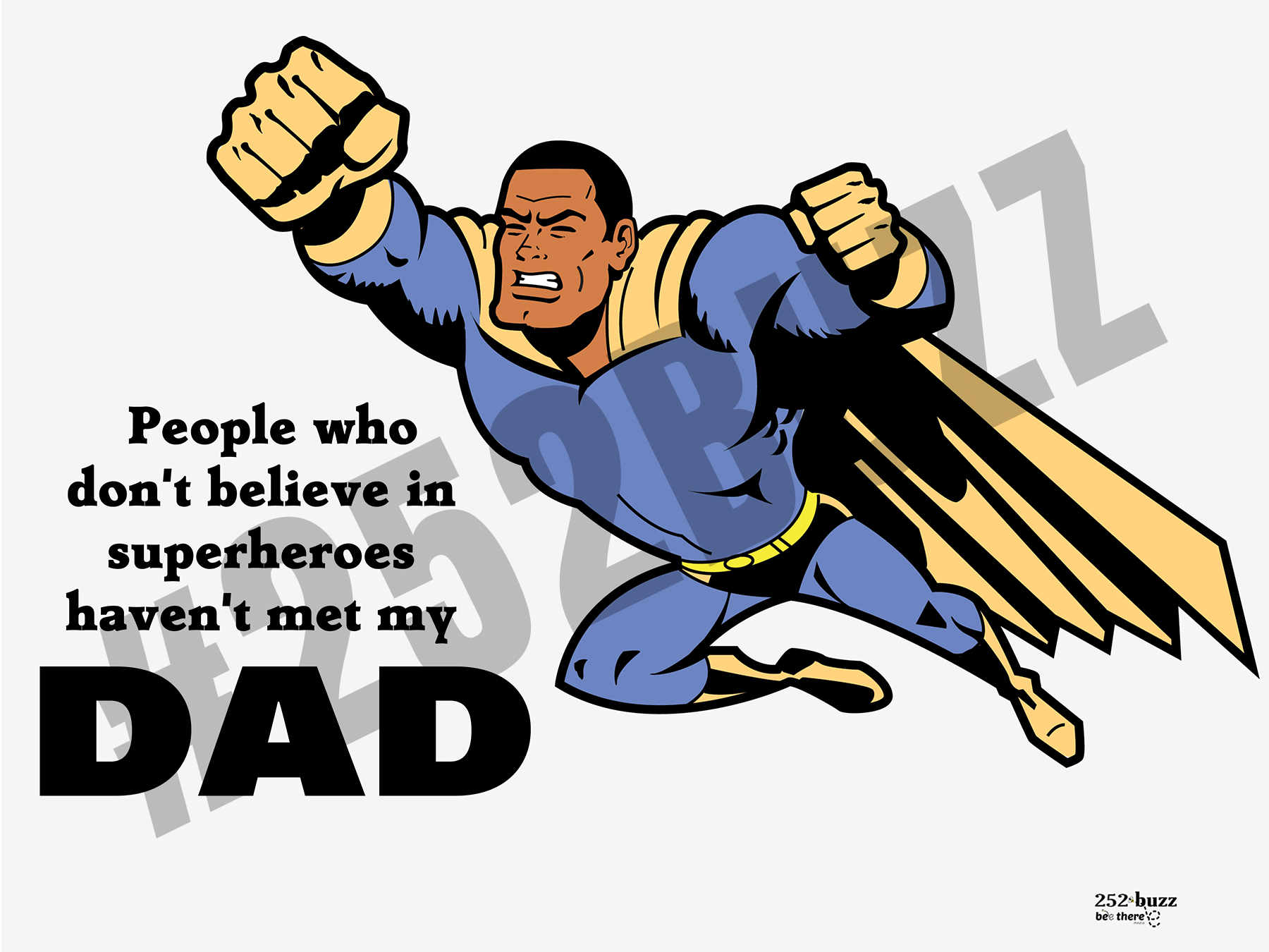SUPERHERO DAD 18x24 lawn sign sample