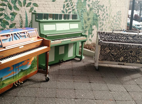Play Me project puts painted pianos on Uptown Greenville streets