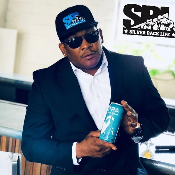 Rapper Petey Pablo poses with a can of Petey's Pale Ale. (Photo from Petey Pablo's Instagram account)