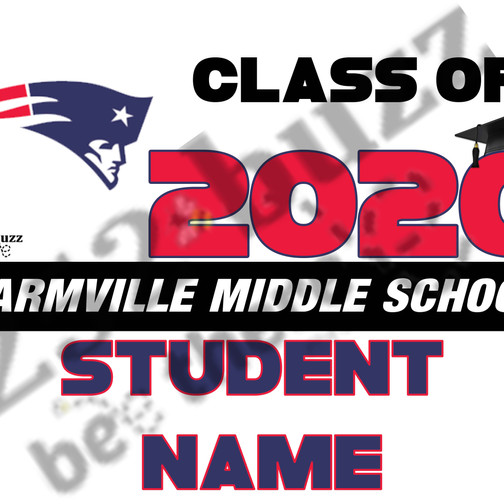FARMVILLE MIDDLE SCHOOL 18x24 lawn sign