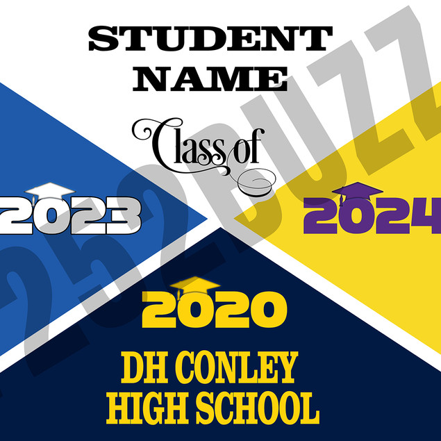 36 x 24 banner with 3 schools DH CONLEY