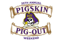 Here's the schedule for ECU's Pirate Pigskin Pig-out this weekend