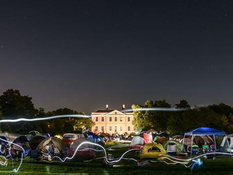 Sleep under the stars at Tryon Palace April 1