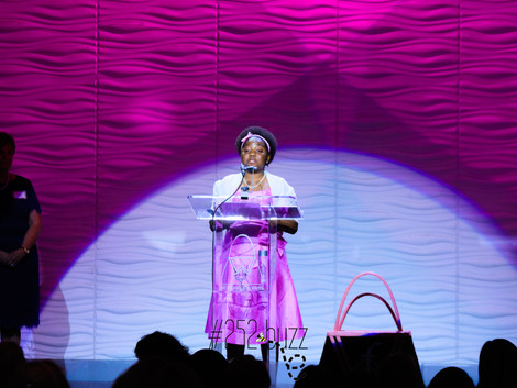 Young speaker charms audience at Power of the Purse luncheon