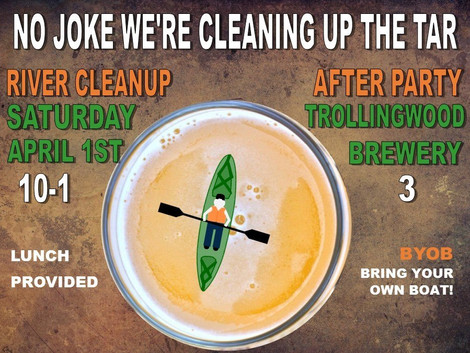 Trollingwood will host April 1 river cleanup