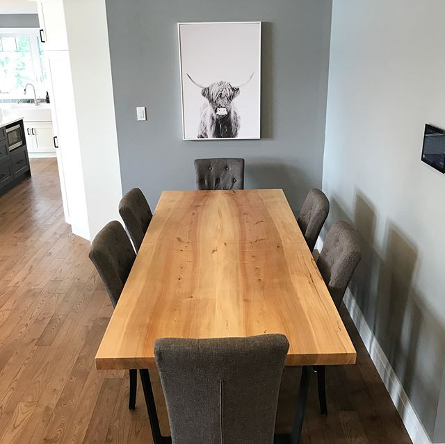 Finished shots of a maple dining table j