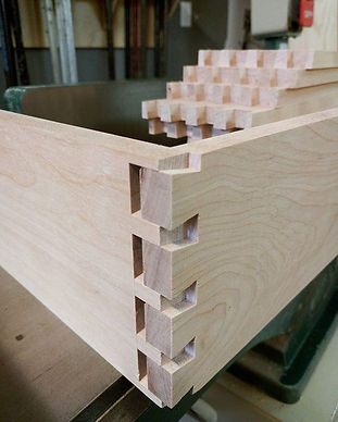 Rainy day spent building dovetail birch