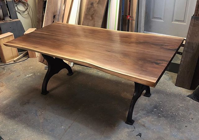 Walnut table that came out of the shop a