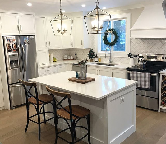 A classic white shaker style kitchen we