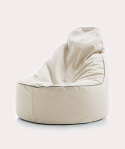 TEARDROP BEAN BAG WHITE