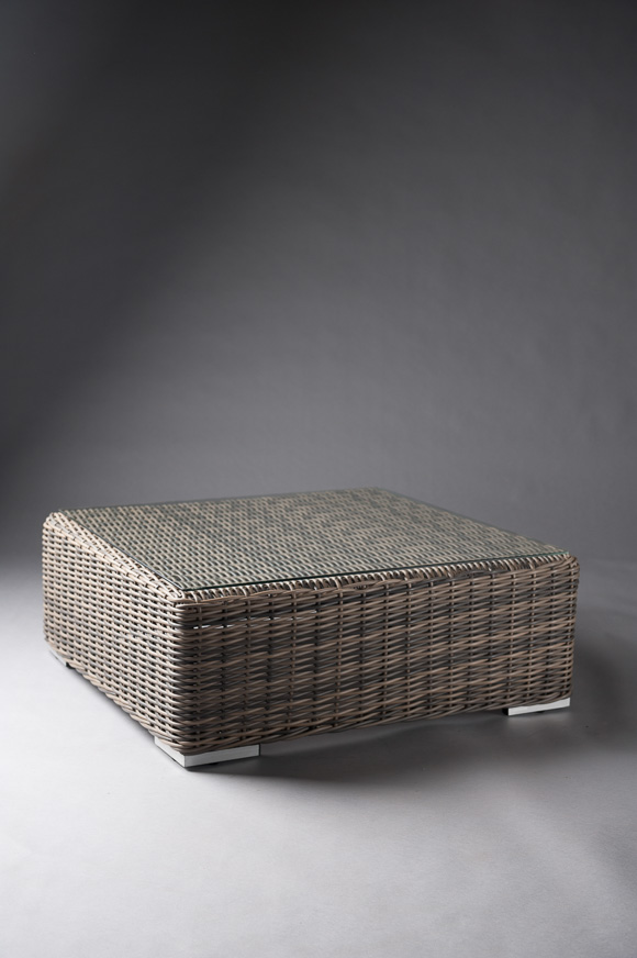 DARK BASE RATTAN TABLE