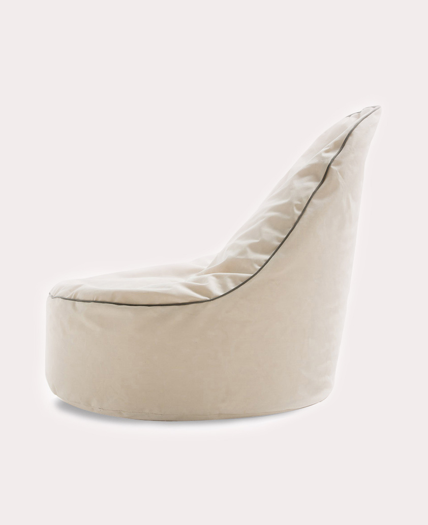 TEARDROP BEAN BAG WHITE