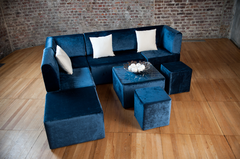 Blue sofa set 3