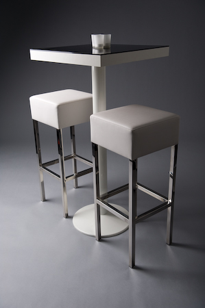 PADDED STOOL WHITE
