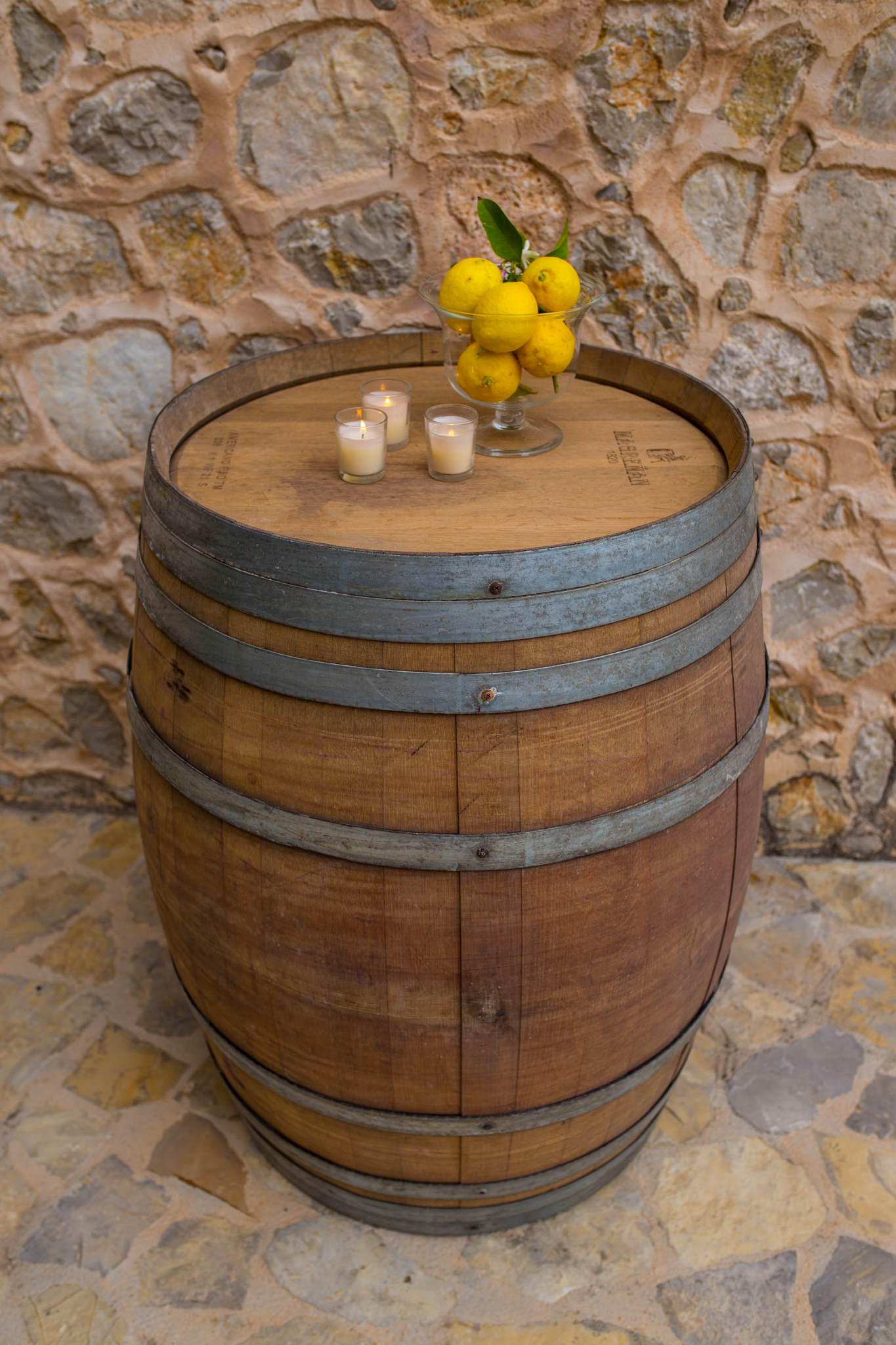 WINE BARREL  POSEUR TABLE