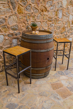 WINE BARREL POSEUR TABLE
