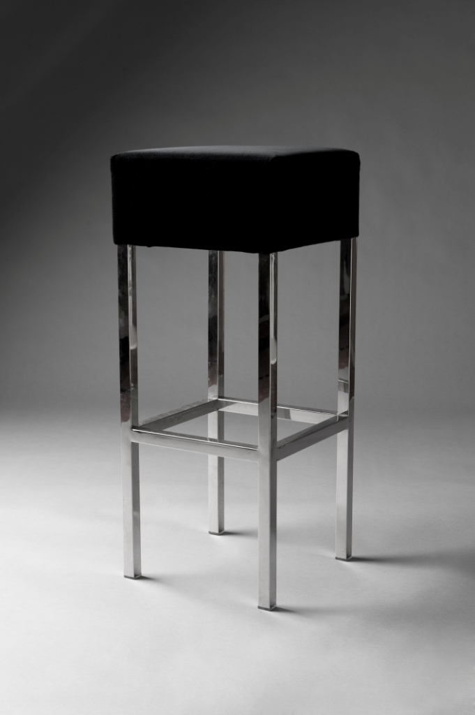 PADDED STOOL BLACK