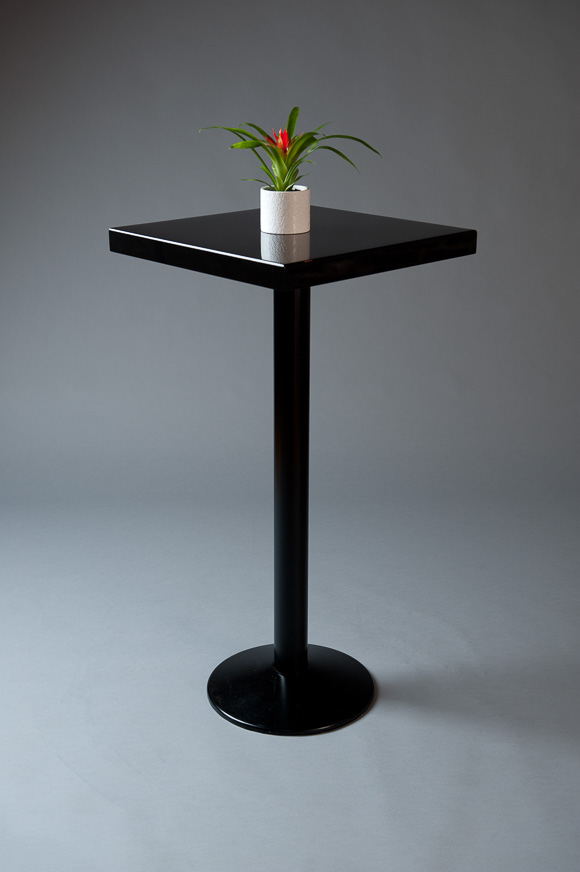 POSEUR TABLE MIRRORED BLACK