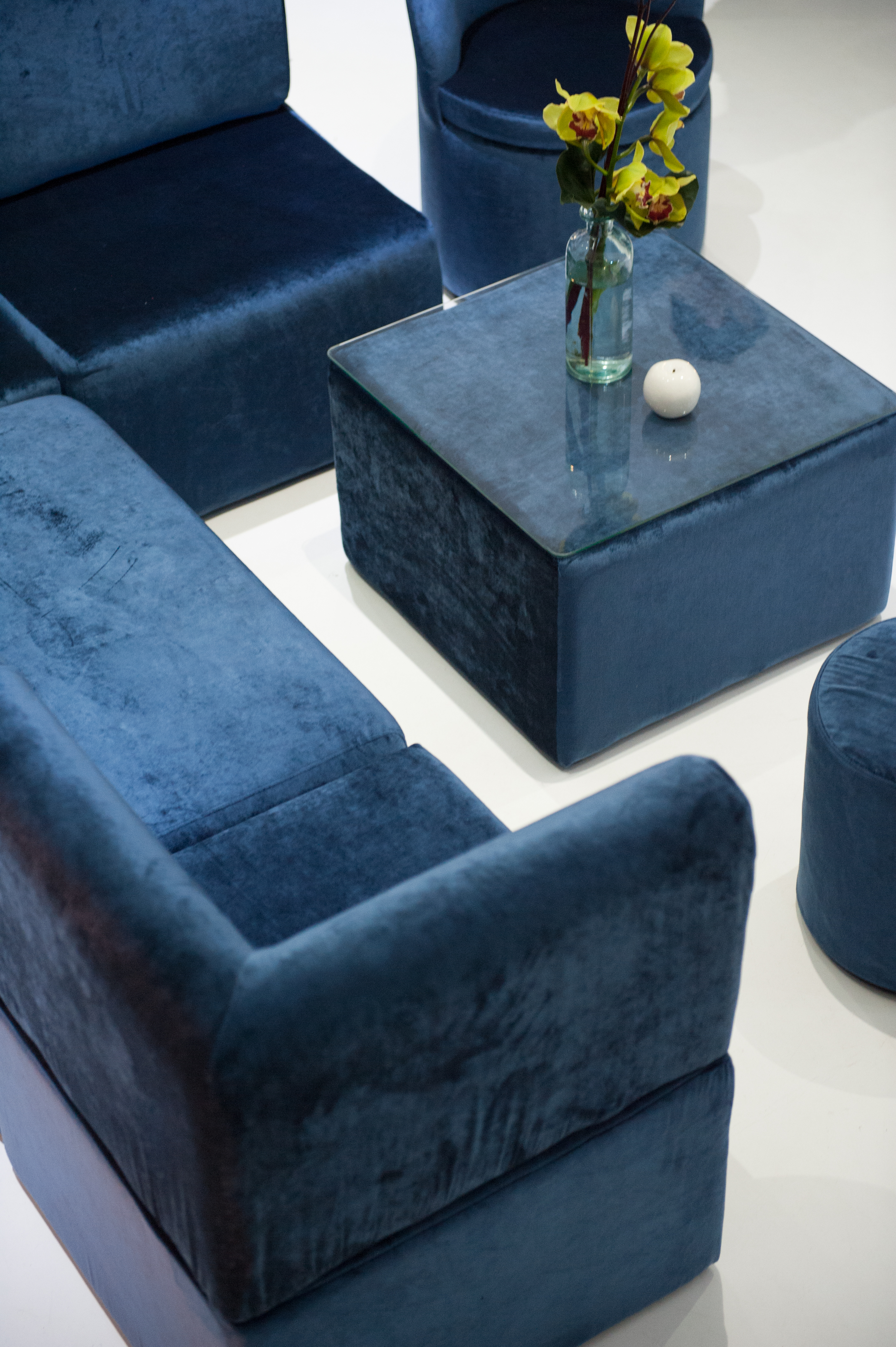 velvet living furniture hire velvet blue