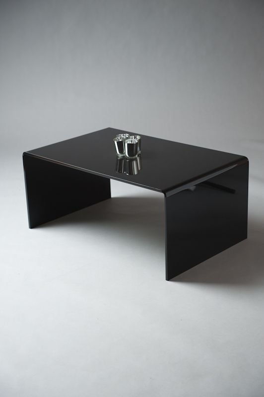 BLACK PERSPEX TABLE