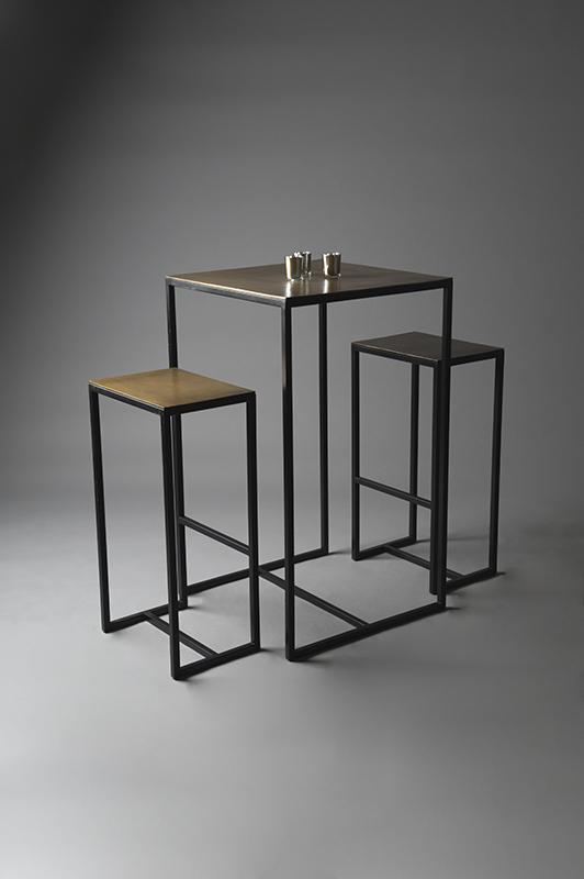 Brass Poseur table set