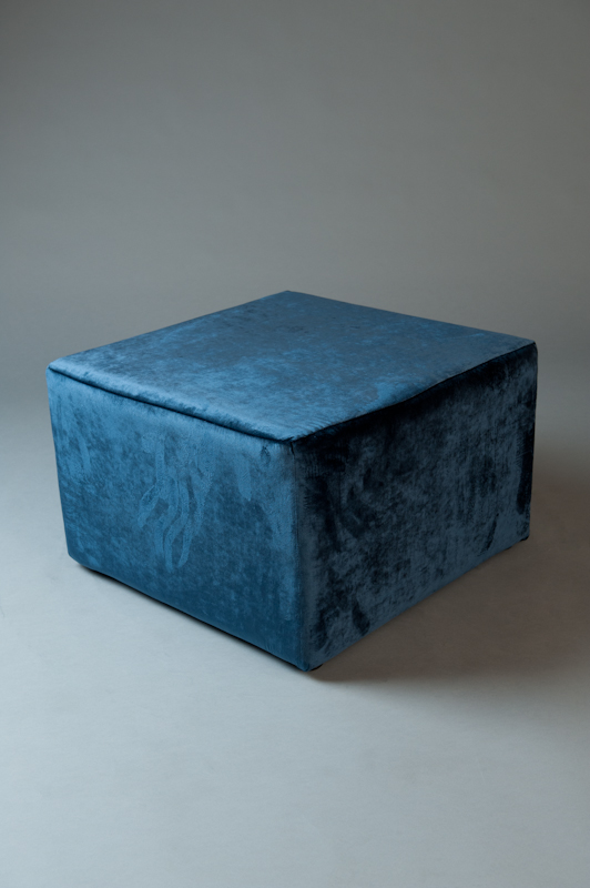Large square pouf velvet living furnitur