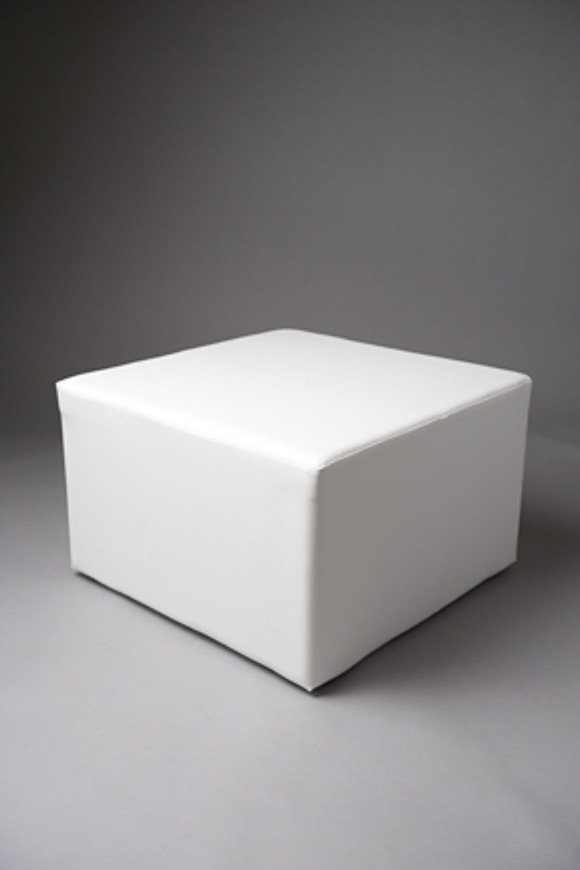 LARGE SQUARE POUF WHITE