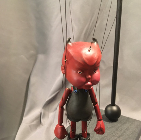 Devil Baby Marionette with stand