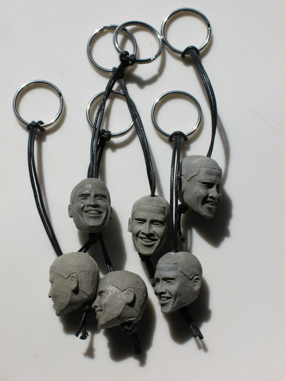 Barack Rocks Keychains