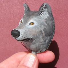 Wolf Kerchief Slide Puppet