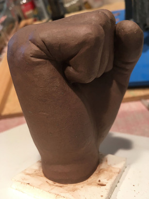 Fist Sculpt in Clay