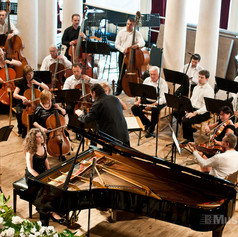 At the Horowitz International Piano Competition in Kiev, Ukraine. June 2012