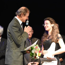 Receiving the award at the Piano Campus International Piano Competition in Cergy-Pontoise, France. February 2018