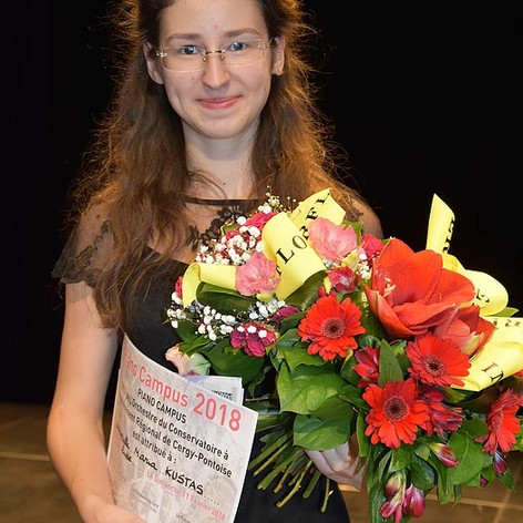 2nd prize winner of the Piano Campus International Piano Competition in Cergy-Pontoise, France. February 2018