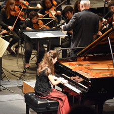 Final of the Piano Campus International Piano Competition in Cergy-Pontoise, France. February 2018