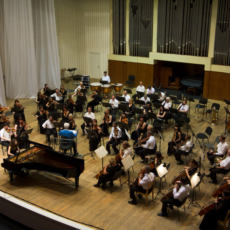 With Volgograd Symphony Orchestra, directed by Eduard Serov in Volgograd, Russia. April 2012
