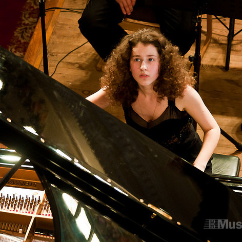 At the Horowitz International Piano Competition in Kiev, Ukraine. June 2012