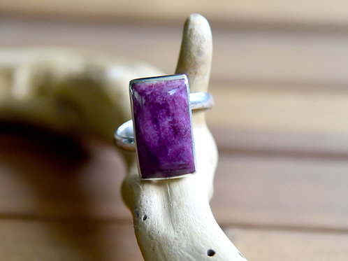 Purple Spiny Oyster Ring - Sterling Silver - Size: 7