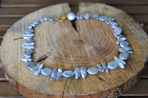Grey Keshi Pearl Necklace