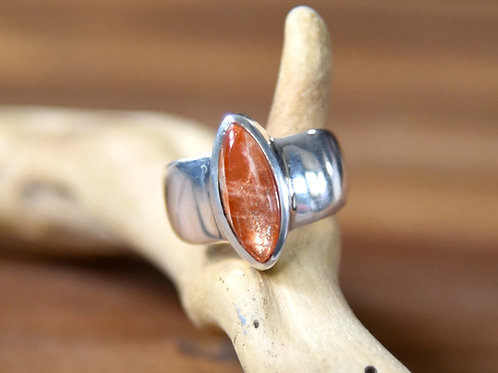Sunstone Ring - Sterling Silver - Size: 8.5