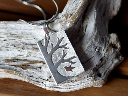 Mixed Metal Inge Riedel Forest Pendant