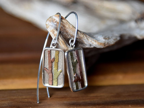Mixed Metal Inge Riedel Earrings