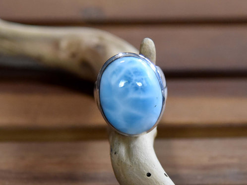 Larimar Ring - Sterling Silver - Size: 8.5