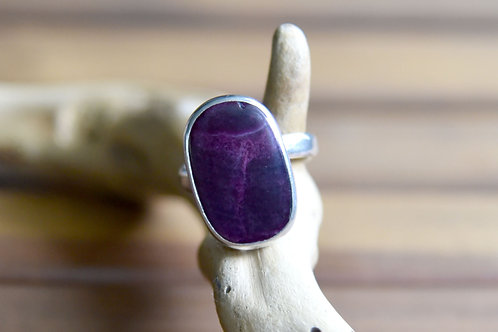 Purple Spiny Oyster Ring - Sterling Silver - Size: 7.5