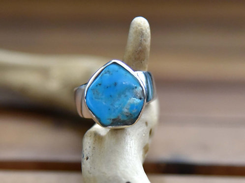 Sleeping Beauty Turquoise Ring - Sterling Silver - Size: 8.5