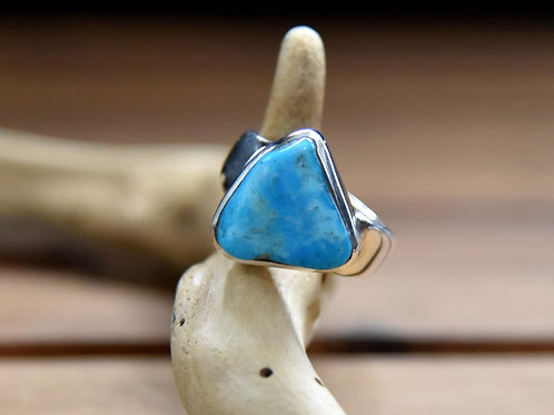 Sleeping Beauty Turquoise Ring - Sterling Silver - Size: 7