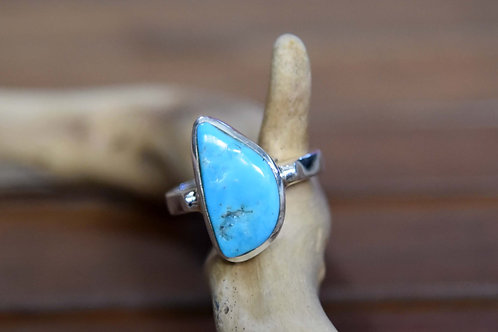 Sleeping Beauty Turquoise Ring - Sterling Silver - Size: 10